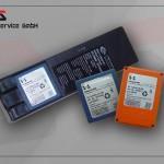 Chargeur pour accumulateurs orange et bleu HBC, 230V/AC